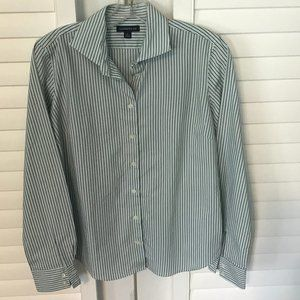 Lands End no iron striped button down shirt, 10